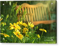 Summer Showers Acrylic Print by Sandra Cunningham