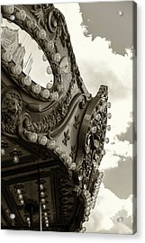Summer Skies And Carousel Acrylic Print