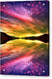 Summer Skies At Skaha Acrylic Print