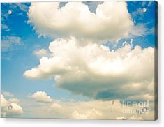 Summer Sky Blue Sky White Clouds Acrylic Print by Andy Smy