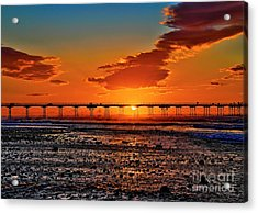 Summer Solstice Sunset Acrylic Print