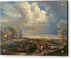 Summer Storm Near Pulborough, Sussex Acrylic Print by Samuel Palmer
