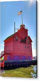 Acrylic Print featuring the photograph Summer Sun And Big Red by Michelle Calkins
