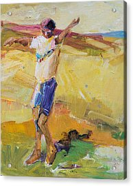 Acrylic Print featuring the painting Summer Sun Dance   by Diane Ursin
