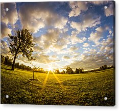 Summer Sunrise Across Delware Park Meadow Acrylic Print