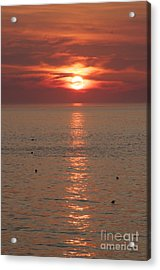 Summer Sunrise Rockport, Ma Acrylic Print by Michael Mooney