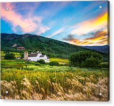 Summer Sunset At Park City Barn Acrylic Print
