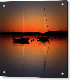 Summer Sunset Calm Anchor Acrylic Print