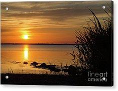 Acrylic Print featuring the photograph Summer Sunset by Kennerth and Birgitta Kullman