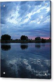 Summer Sunset On Yakima River 5 Acrylic Print by Carol Groenen