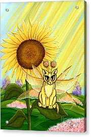 Summer Sunshine Fairy Cat Acrylic Print