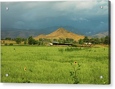 Acrylic Print featuring the photograph Summer View Of  Hay Stack Mountain by James BO Insogna