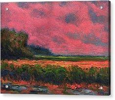 Summer Wetlands - Distant Haze  Acrylic Print