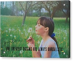 Summer Wish Quote Acrylic Print by JAMART Photography