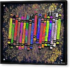 Summer's Crayon Love Acrylic Print