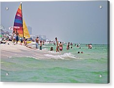 Summers Day On Pensacola Beach Acrylic Print by Ray Devlin