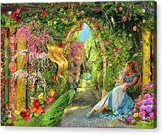 Summers Garden Acrylic Print by Aimee Stewart
