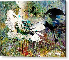 Summers Garden Acrylic Print by Angela Holmes