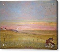 Summer's Prairie Sunset Acrylic Print