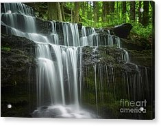 Summertime At Gunn Brook Falls Acrylic Print by Mary Lou Chmura