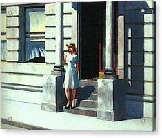 Summertime  Acrylic Print by Edward Hopper