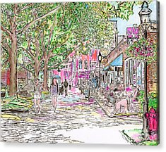 Summertime In Newburyport, Massachusetts Acrylic Print