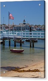 Summertime In  Newport Beach Harbor Acrylic Print