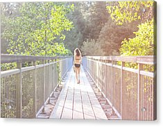 Summertime Acrylic Print by Jane Hu