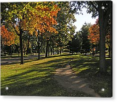 Summit Avenue In The Fall Acrylic Print by Janis Beauchamp