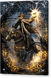 Summoned Skull Fantasy Art Acrylic Print