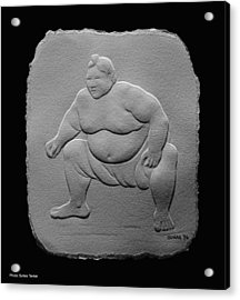 Acrylic Print featuring the relief Sumo by Suhas Tavkar