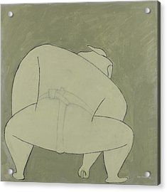 Acrylic Print featuring the painting Sumo Wrestler by Ben Gertsberg