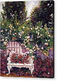 Sumptous Cascading Roses Acrylic Print
