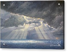 Acrylic Print featuring the painting Storm Subsides by Rosario Piazza