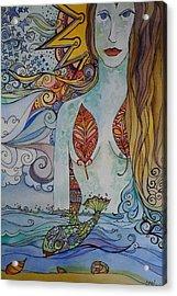 Sun And Sea Godess Acrylic Print by Claudia Cole Meek