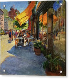 Sun And Shade On Amsterdam Avenue Acrylic Print by Peter Salwen