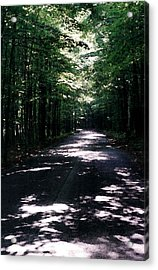 Acrylic Print featuring the photograph Sun And Shadow Road In Summer Imp Wc by Lyle Crump