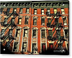Sun And Shadow - The Rhythm Of New York Acrylic Print