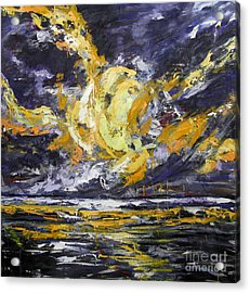 Acrylic Print featuring the painting Sun And Sky by Debora Cardaci