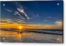 Sun And Surf Acrylic Print by Marvin Spates