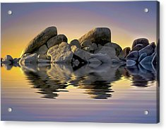 Sun Bathed Rocks Acrylic Print