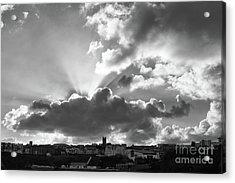 Acrylic Print featuring the photograph Sun Beams Over Church by Nicholas Burningham