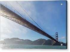 Sun Beams Through The Golden Gate Acrylic Print by Scott Campbell