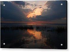 Sun Behind The Clouds Acrylic Print by Susanne Van Hulst