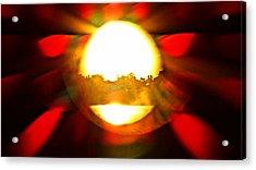 Acrylic Print featuring the photograph Sun Burst by Eric Dee