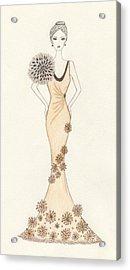 Sun Burst Gown Acrylic Print by Christine Corretti
