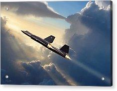 Sun Chaser Sr-71 Acrylic Print