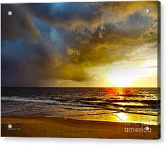 Sun Chasing The Storm Away Acrylic Print