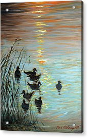 Sun Downers Acrylic Print by Max Mckenzie