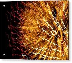 Sun Firework Acrylic Print by Cat Jackson